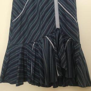 Anthropologie Skirts - Tiny Angled Ruse Asymmertrical Ruffle Midi Skirt M